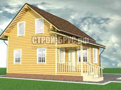 Дом из бруса 8х11 — №133