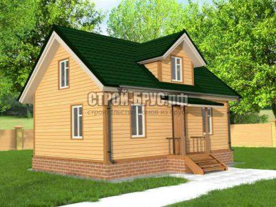 Дом из бруса 7х9 с мансардой