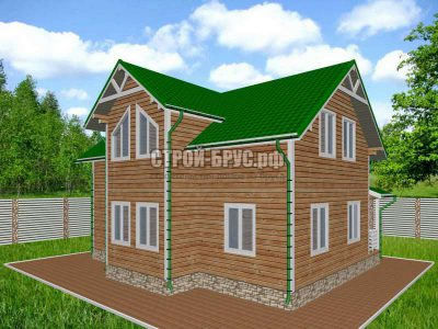 Проект дома из бруса 10х12