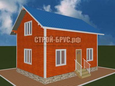 Проект деревянного дома из бруса 6х8