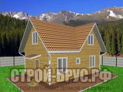 Недорогой дом из бруса 6х9