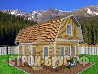 Дом 6х9 с ломаной крышей