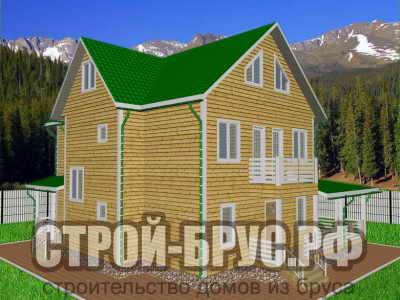 Трехэтажный дом из бруса