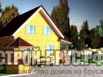 Проект дома 9х9 с террасой