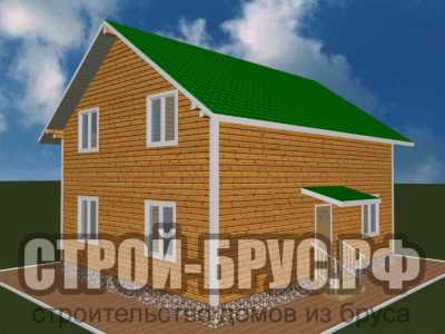 Дом 8х10 из бруса с котельной