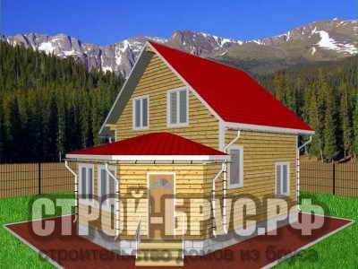 Дачный домик 7х9 из бруса