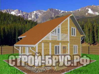Проект брусового дома 8х8