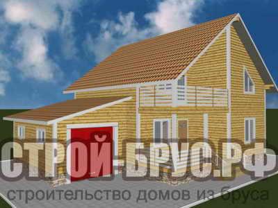 Дом 13 на 9 с гаражом