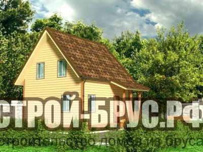 Дачный дом 8х8 с мансардой