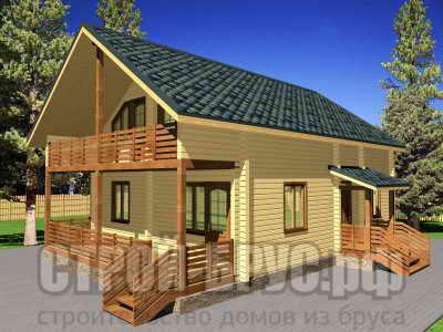Дом 8х12 из бруса