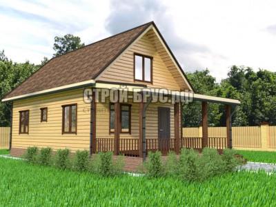 Проект дома из бруса 6х12