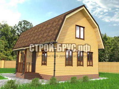Дом из бруса 9х6 с мансардой