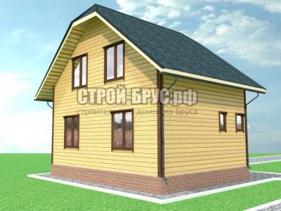 Дом профилированного бруса 6х8