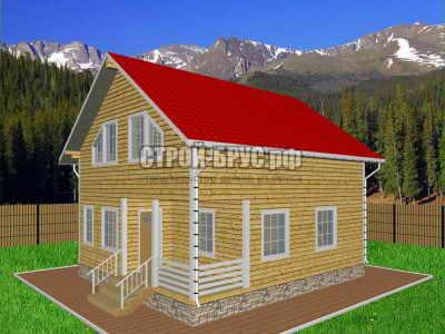 Дом из бруса 9х9 планировка