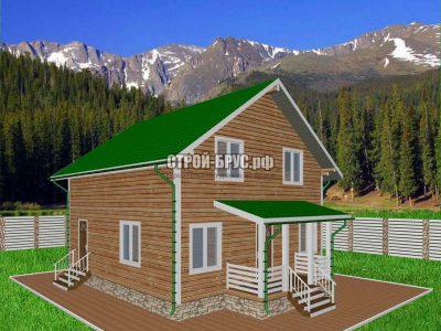 Проект полутораэтажного дома 8х8