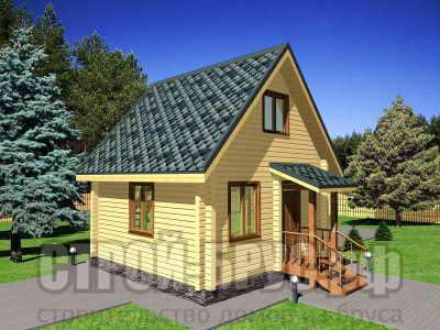 Садовый домик 5х5 из бруса
