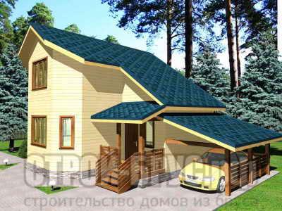 Проект дома 8х9 с гаражом