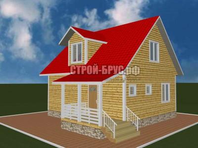 Дом 8,5х9 из бруса