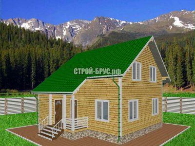 Проект деревянного дома 8х8,5