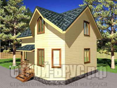 Построить дом 7х8 из бруса
