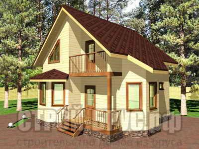 Деревянный дом 9х8