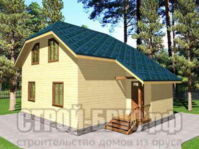 Двухэтажный дом из бруса 10 на 8