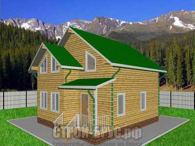 Проект дома 9х11 из бруса