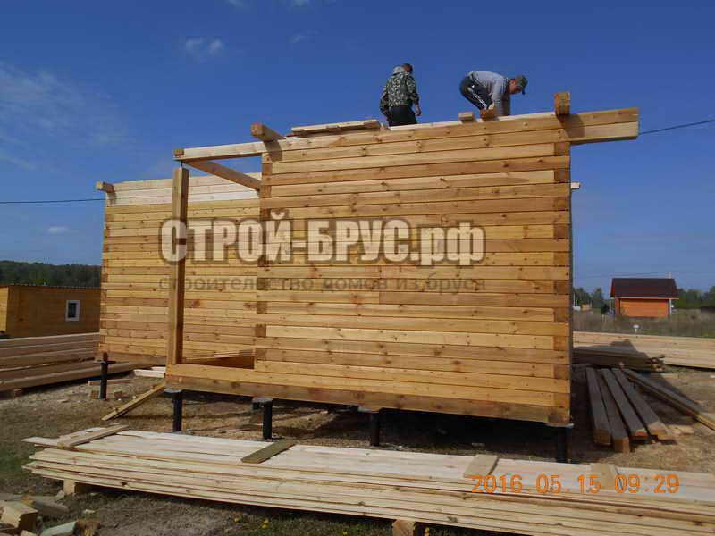 строительство баня из бруса раменское
