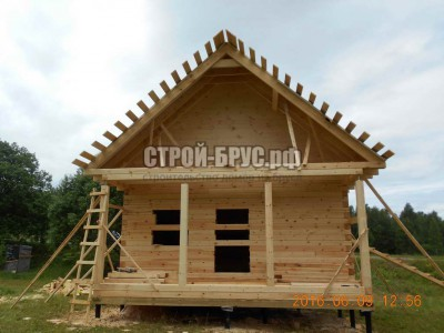 Деревянный дом из бруса в Истринском районе