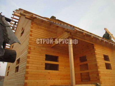 Дачный дом 8 на 10 из профилированного бруса