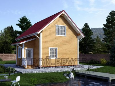 Дом из бруса 8х6 с тамбуром