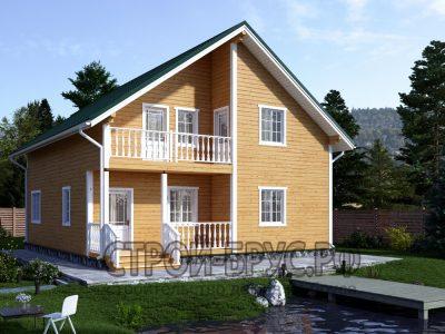 Двухэтажный дом 10х9 из бруса