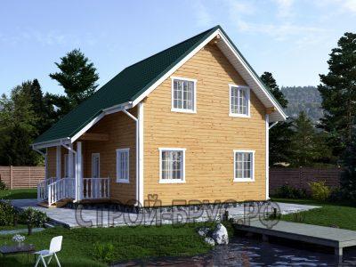 Проект деревянного дома 8х8