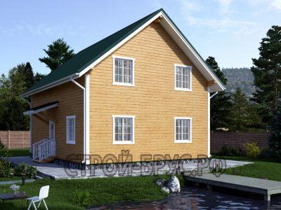 Дом 10х8 из бруса с котельной