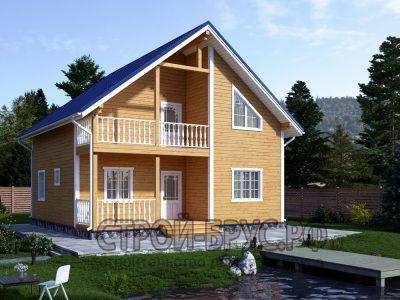 Проект деревянного дома 9х9