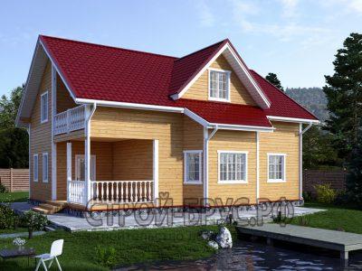 Дом из бруса 12х9