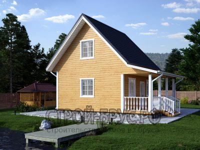Дом из бруса 6х6 с верандой