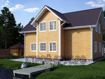 Проект дома из бруса 12х10
