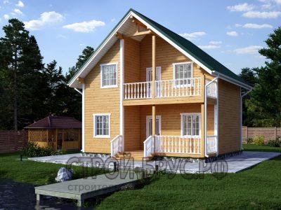 Дом 7х8 с террасой и балконом
