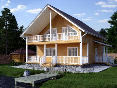Проект дома 9х10 с террасой