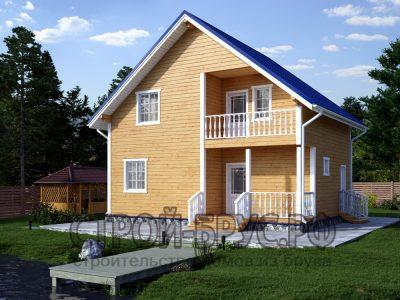 Проект деревянного дома 7х9