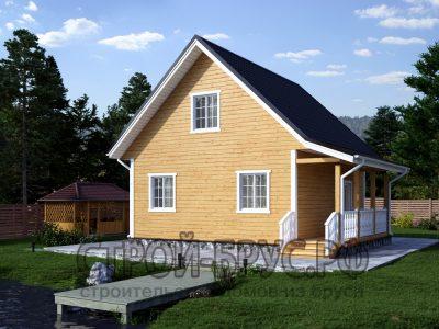 Проект деревянного дома 7х8