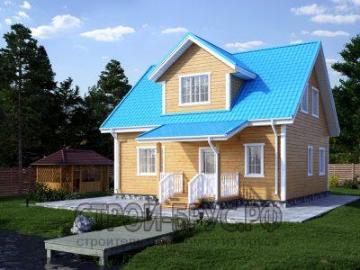 Двухэтажный дом 8х9