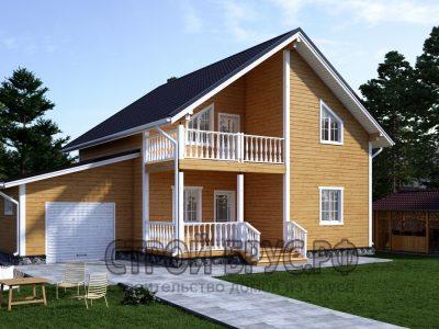 Дом 9х13 с гаражом