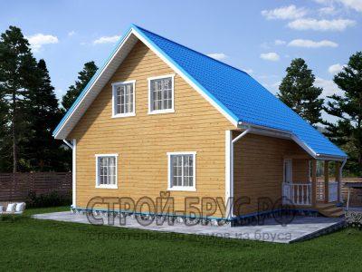 Дом из бруса 8х9 с мансардой