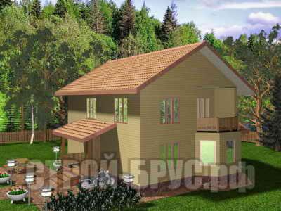 Двухэтажный дом 10х11