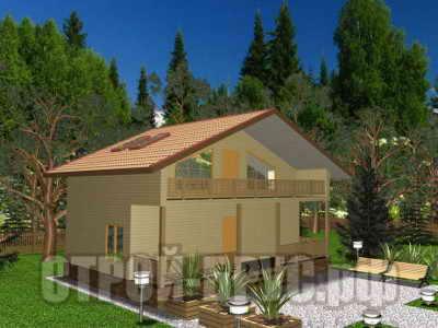 Дом 7х9 с террасой из бруса