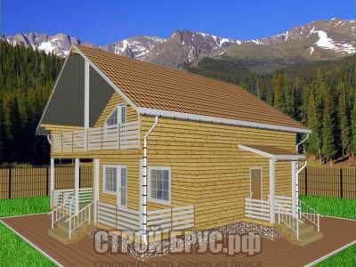 Проект дома 10х9 с террасой