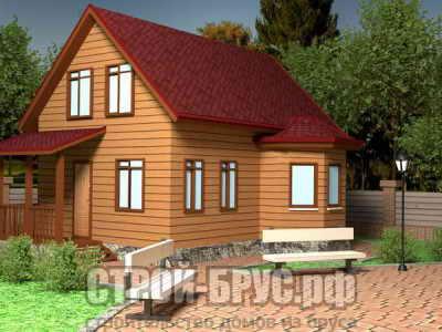 Двухэтажный дом 8х9 из бруса