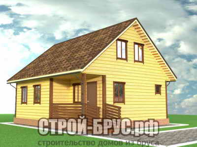 Дом 7,5х9 из бруса